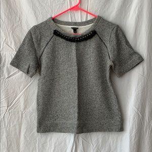 Ann Taylor Short Sleeve Sweatshirt Top